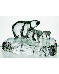 Hadeland Glassverk Dyrefigurer 3 Isbjørner På Bl.170-120-80
