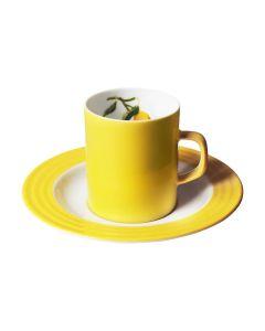 Porsgrunds Porselænsfabrik Citron Kopp & Skål Kaffe