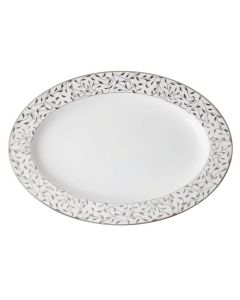 Porsgrunds Porselænsfabrik Cecilie Platinum Ovalfat 40 cm