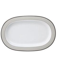 Porsgrunds Porselænsfabrik Saturn Platina Ovalfat32,5 cm