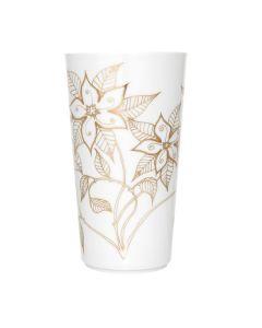 Porsgrunds Porselænsfabrik Vase Maud Indian Blossom Gold 27cm